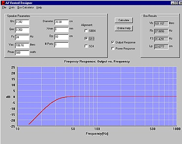 Subwoofer enclosure software